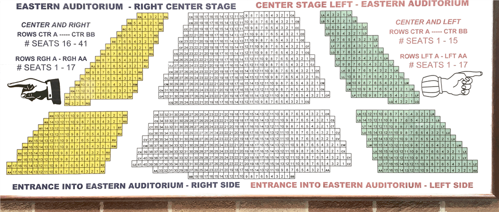 Performing Arts Center Seating Chart